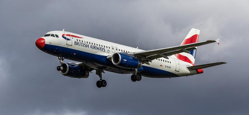 British Airways - Airbus A320-232 (G-EUUC) - Heathrow Airport (March 2019)