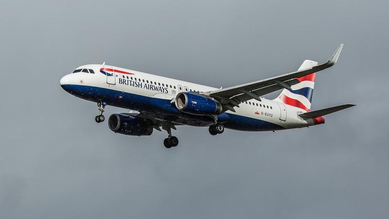 British Airways - Airbus A320-232 (G-EUYU) - Heathrow Airport (February 2020)