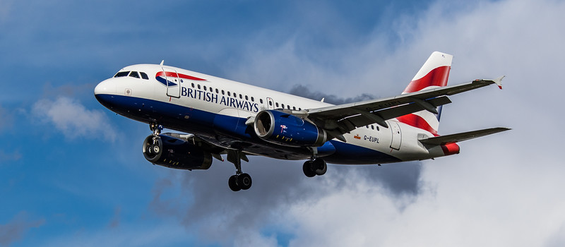 British Airways - Airbus A319-131 (G-EUPL) - Heathrow Airport (March 2019)