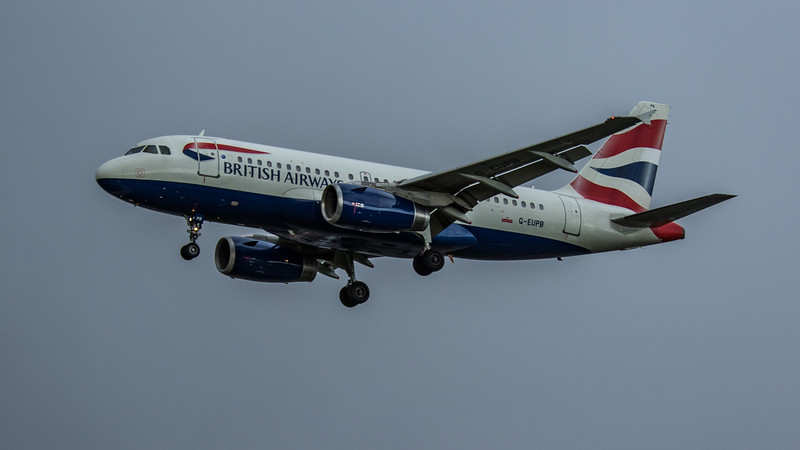 British Airways - Airbus A319-131 (G-EUPB) - Heathrow Airport (February 2020)