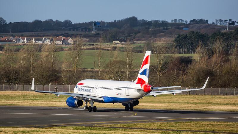 British Airways - Airbus A320-232 (G-EUYO) - Edinburgh Airport (February 2020)