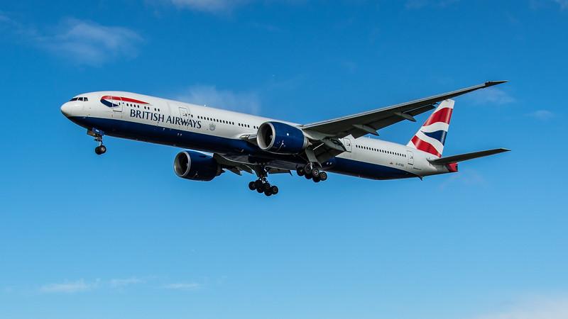 British Airways - Boeing 777-336(ER) (G-STBG) - Heathrow Airport (February 2020)