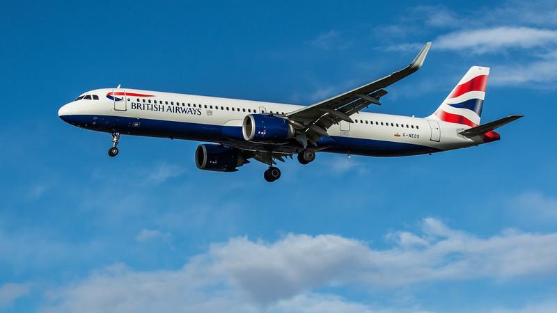 British Airways - Airbus A321-251NX (G-NEOS) - Heathrow Airport (February 2020)