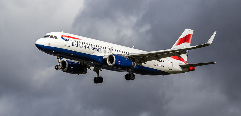 British Airways - Airbus A320-232 (G-EUYW) - Heathrow Airport (March 2019)