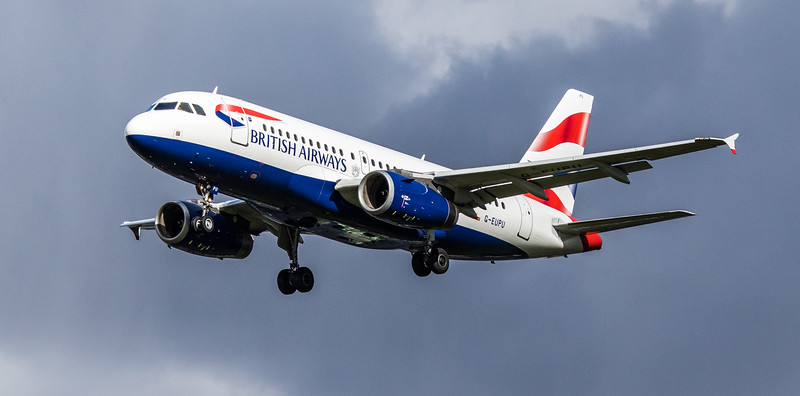 British Airways - Airbus A319-131 (G-EUPU) - Heathrow Airport (March 2019)
