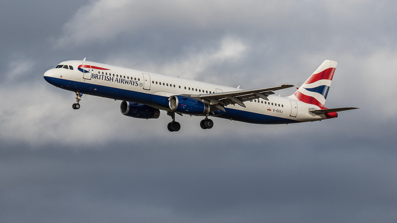 British Airways - Airbus A321-231 (G-EUXJ) - Edinburgh Airport (February 2020)