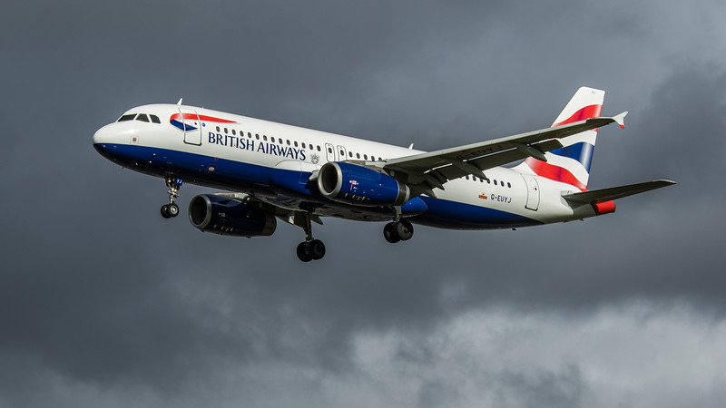 British Airways - Airbus A320-232 (G-EUYJ) - Heathrow Airport (February 2020)