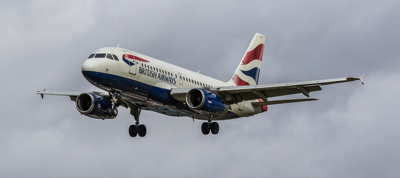 British Airways - Airbus A319-131 (G-EUPX) - Heathrow Airport (March 2019)