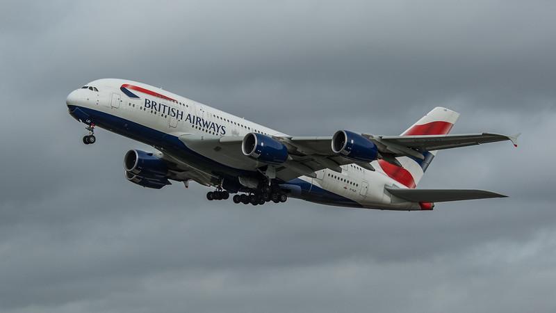 British Airways - Airbus A380-841 (G-XLEI) - Heathrow Airport (March 2020)