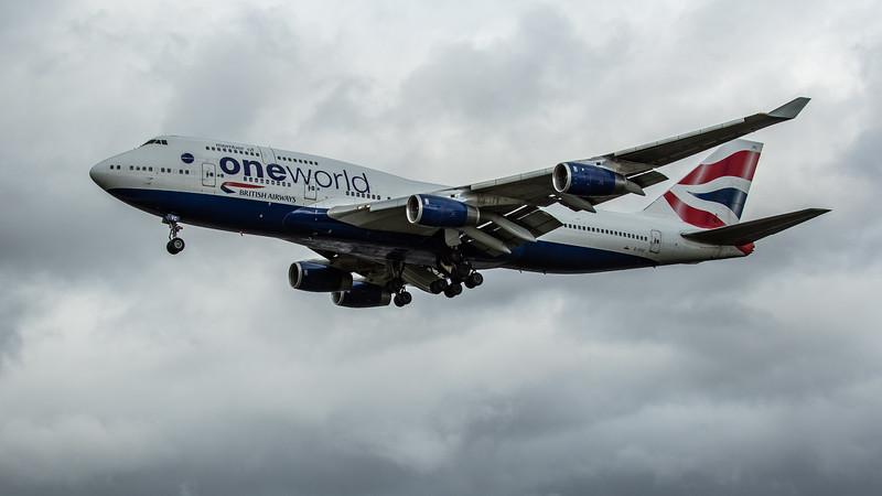 British Airways (One World Livery)  - Boeing 747-436 (G-CIVC) - Heathrow Airport (February 2020)