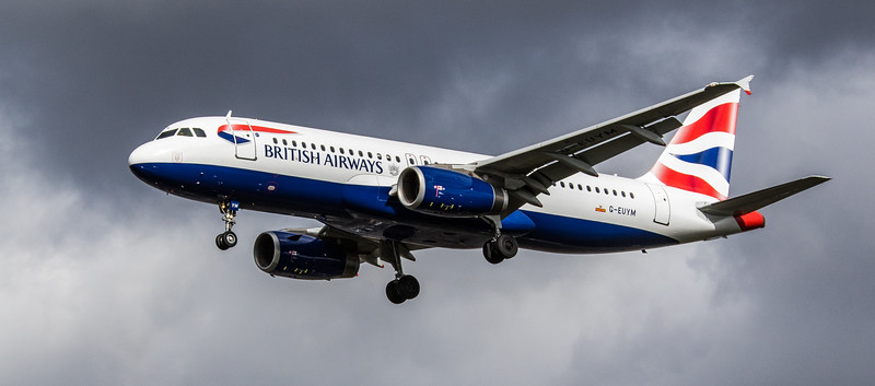 British Airways - Airbus A320-232 (G-EUYM) - Heathrow Airport (March 2019)