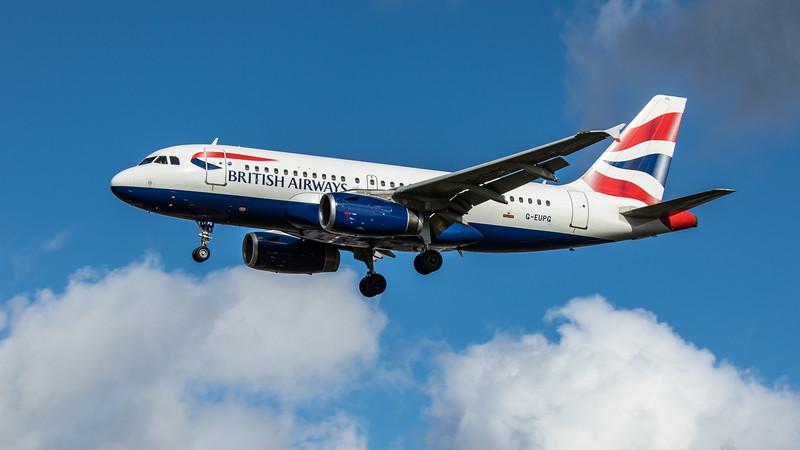 British Airways - Airbus A319-131 (G-EUPG) - Heathrow Airport (February 2020)