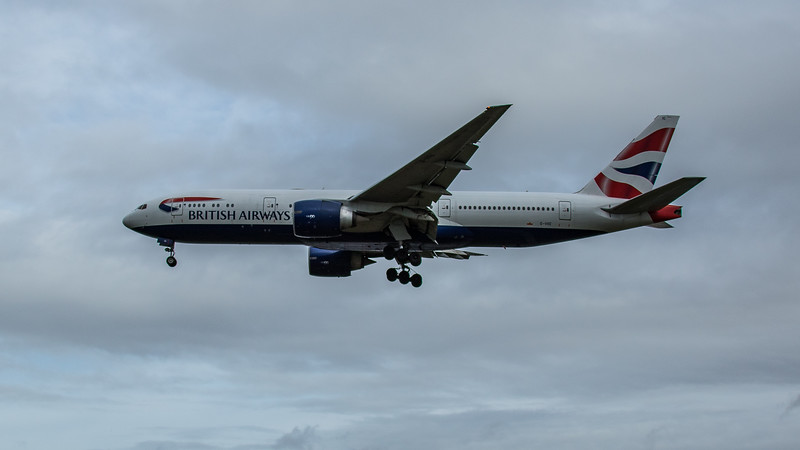 British Airways - Boeing 777-236(ER) (G-VIIC) - Heathrow Airport (February 2020)