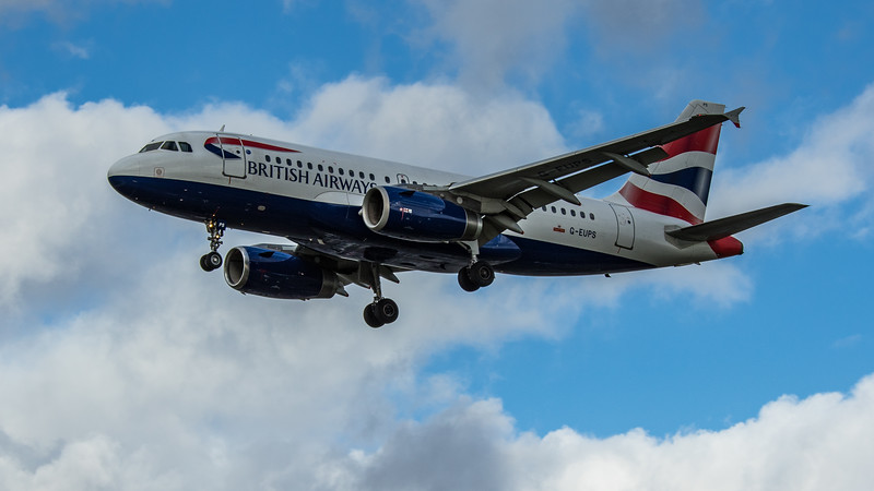 British Airways - Airbus A319-131 (G-EUPS) - Heathrow Airport (March 2020)