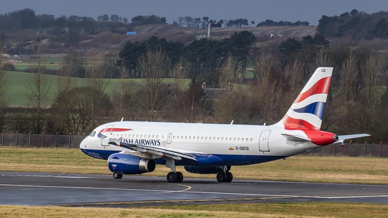 British Airways - Airbus A319-131 (G-DBCD) - Edinburgh Airport (January 2020)