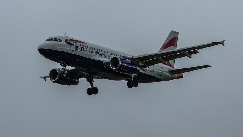 British Airways - Airbus A319-131 (G-EUPR) - Heathrow Airport (February 2020)