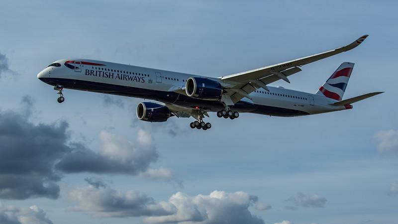 British Airways - Airbus A350-1041 (G-XWBF) - Heathrow Airport (June 2020)