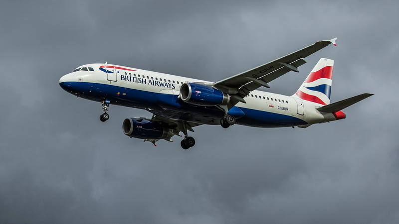 British Airways - Airbus A320-232 (G-EUUR) - Heathrow Airport (February 2020)