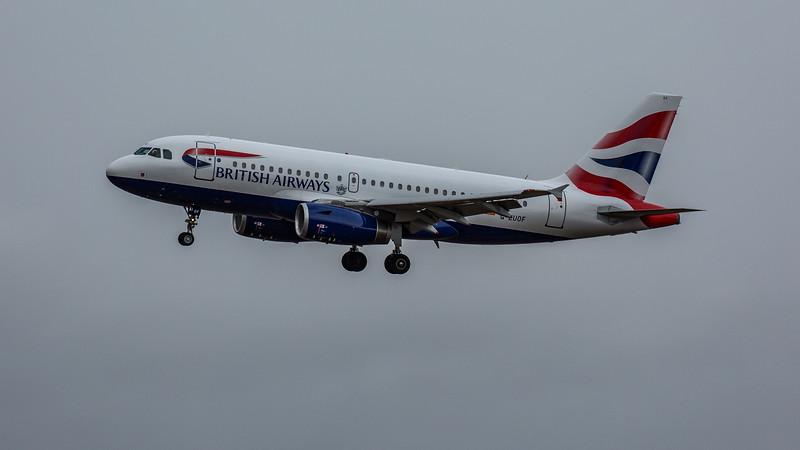 British Airways - Airbus A319-131 (G-EUOF) - Edinburgh Airport (February 2020)
