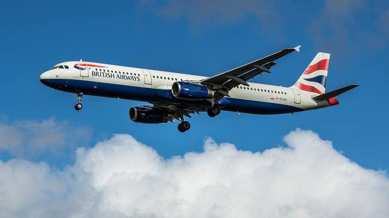 British Airways - Airbus A321-231 (G-EUXE) - Heathrow Airport (February 2020)