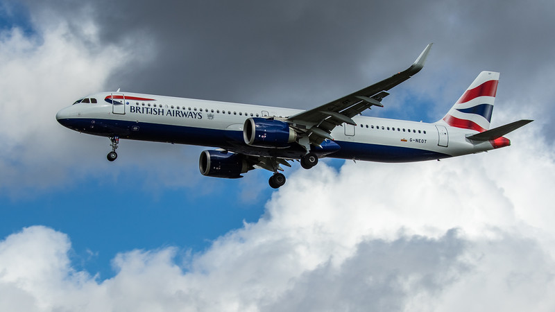 British Airways - Airbus A321-251NX (G-NEOT) - Heathrow Airport (February 2020)