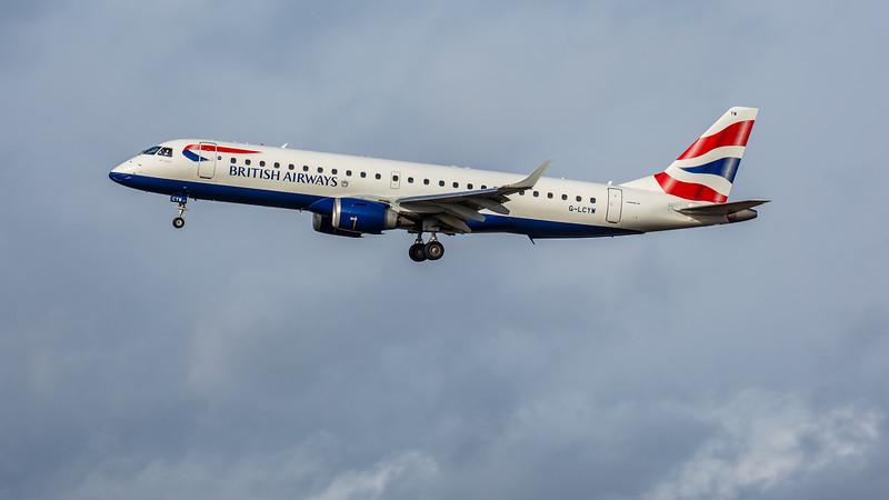 British Airways - Embraer E190-SR (G-LCYW) - Edinburgh Airport (February 2020)