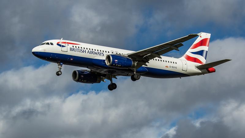 British Airways - Airbus A320-232 (G-EUYC) - Heathrow Airport (March 2020)