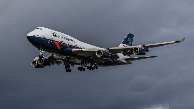 British Airways (Landor Retro Livery) - Boeing 747-436 (G-BNLY) - Heathrow Airport (March 2019)