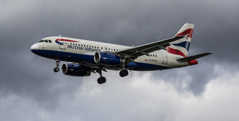 British Airways - Airbus A319-131 (G-EUOG) - Heathrow Airport (March 2019)