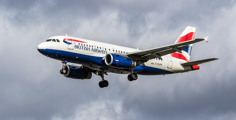 British Airways - Airbus A319-131 (G-EUPK) - Heathrow Airport (March 2019)