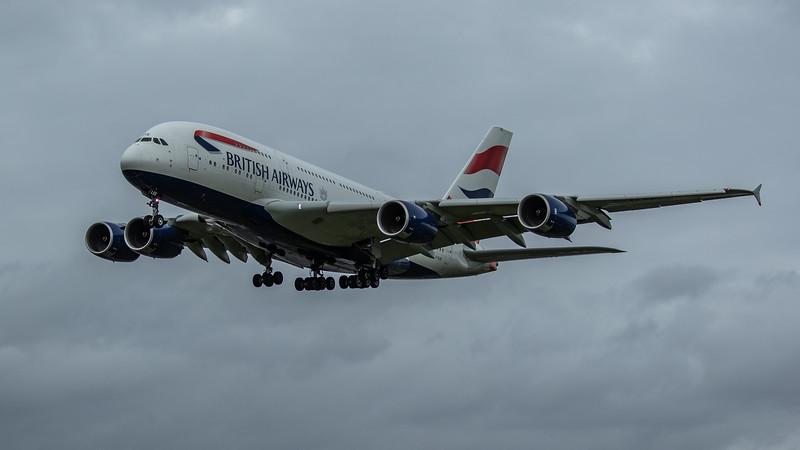 British Airways - Airbus A380-841 (G-XLEE) - Heathrow Airport (March 2020)
