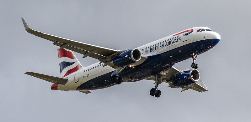 British Airways - Airbus A320-232 (G-EUYT) - Heathrow Airport (March 2019)