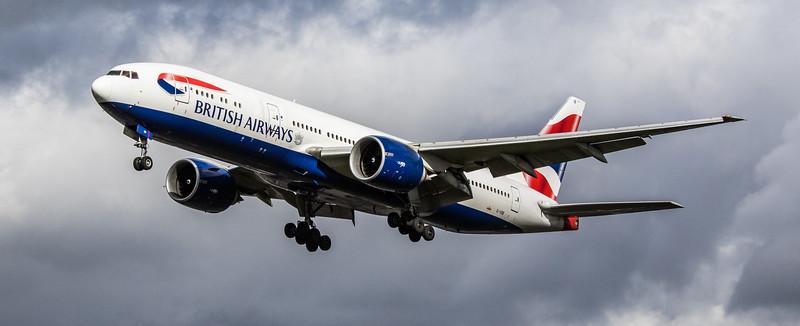 British Airways - Boeing 777-236(ER) (G-VIIB) - Heathrow Airport (March 2019)