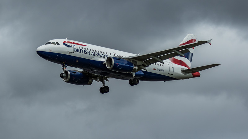 British Airways - Airbus A319-131 (G-EUPO) - Heathrow Airport (February 2020)