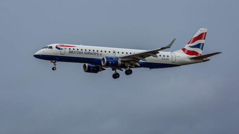 British Airways - Embraer E190-SR (G-LCYK) - Edinburgh Airport (February 2020)