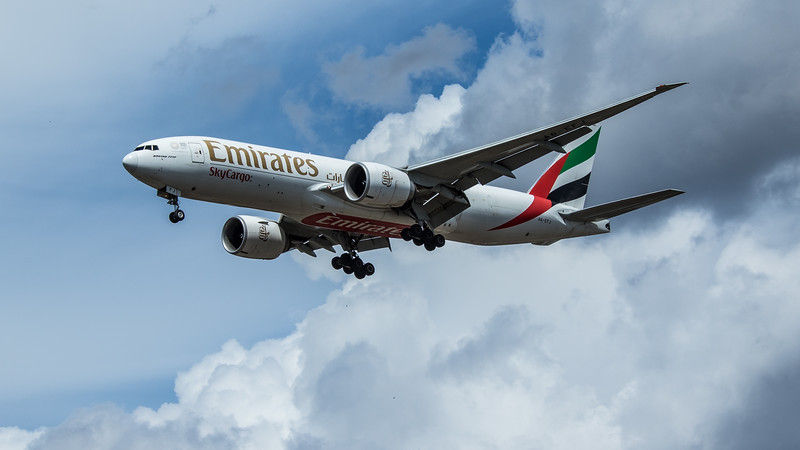 Emirates Sky Cargo - Boeing 777-F1H (A6-EFJ) - Heathrow Airport (June 2020)