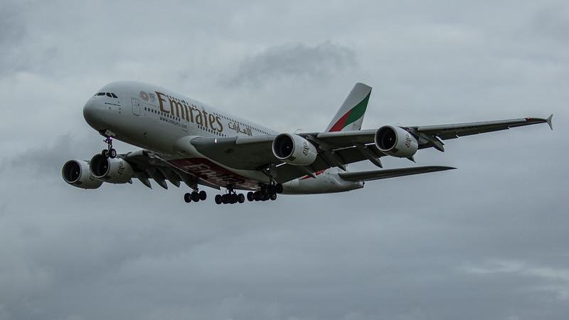 Emirates - Airbus A380-861 (A6-EDI) - Heathrow Airport (March 2020)