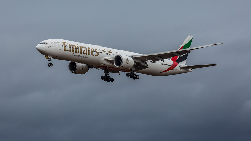 Emirates - Boeing 777-31H(ER) (A6-ENN) - Edinburgh Airport (February 2020)