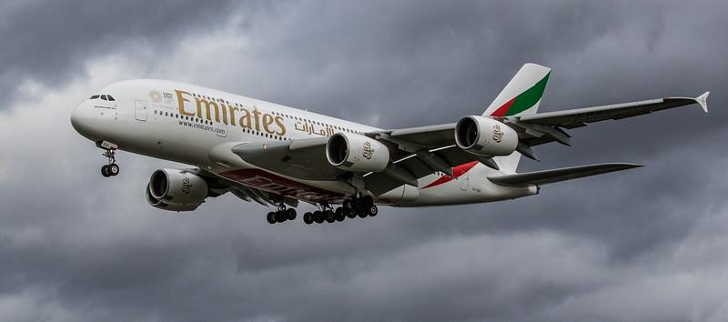 Emirates - Airbus A380-861 (A6-EDU ) - Heathrow Airport (March 2019)