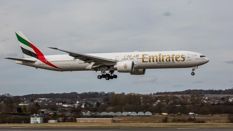 Emirates - Boeing 777-36N(ER) (A6-EBO) - Edinburgh Airport (March 2020)