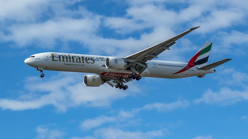 Emirates - Boeing 777-31H(ER) (A6-EQM) - Heathrow Airport (June 2020)