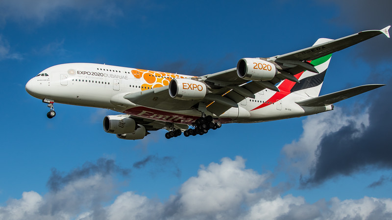 Emirates (Expo 2020 - Opportunity Livery)  - Airbus A380-861 (A6-EOA) - Heathrow Airport (February 2020)
