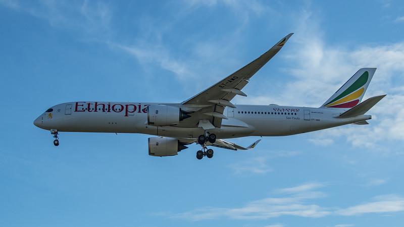 Ethiopian Airways - Airbus A350-941 (ET-AWO) - Heathrow Airport (June 2020)