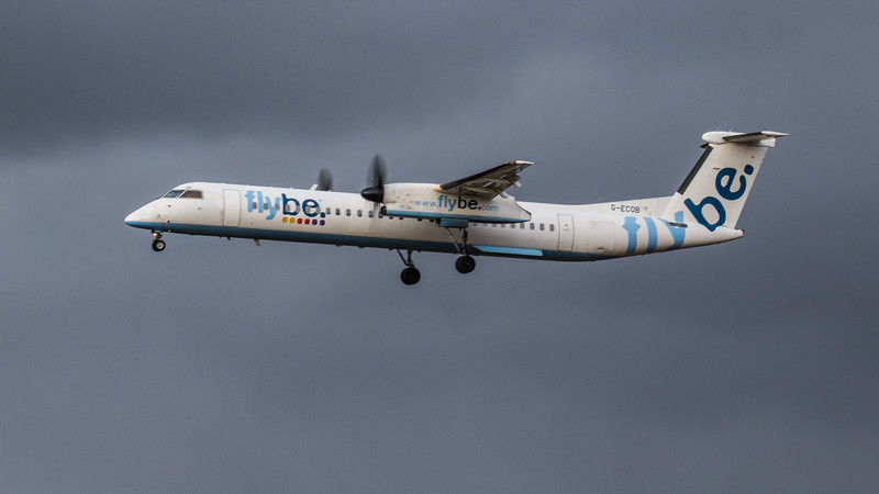 Flybe - De Havilland Canada Dash 8-400 (G-ECOB) - Edinburgh Airport (January 2020)