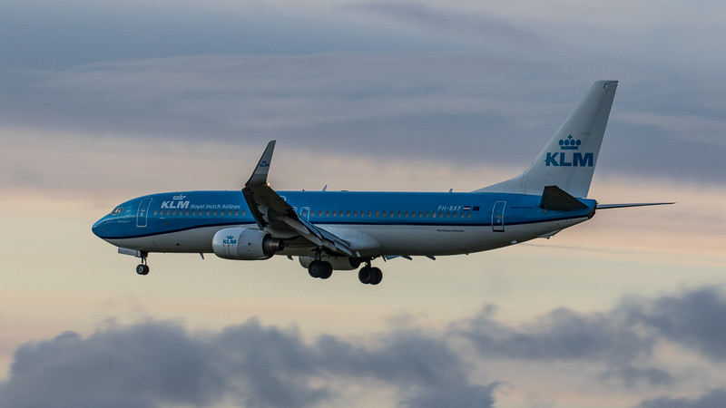 KLM - Boeing 737-8K2 (PH-BXF) - Edinburgh Airport (January 2020)