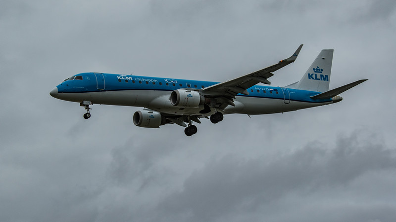 KLM - Embraer E190-STD (PH-EZO) - Heathrow Airport (March 2020)