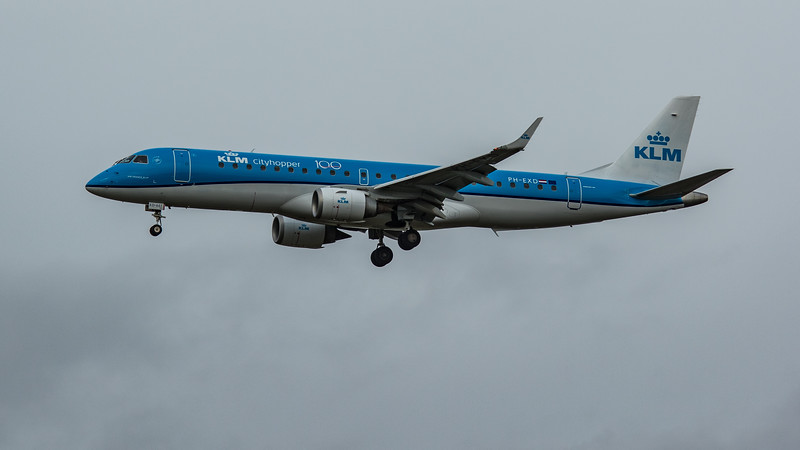 KLM - Embraer E190-STD (PH-EXD) - Heathrow Airport (March 2020)