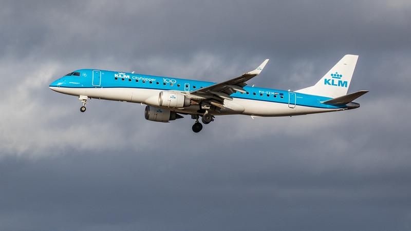 KLM - Embraer E190-STD (PH-EZM) - Edinburgh Airport (February 2020)