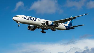 Kuwait Airways - Boeing 777-369(ER) (9K-AOC) - Heathrow Airport (February 2020)