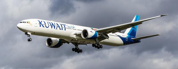 Kuwait Airways - Boeing 777-369(ER) (9K-AOF) - Heathrow Airport (March 2019)